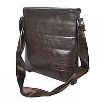 Мужская стильная сумка через плечо Buluo коричневая