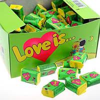 Жвачки love is Яблоко - лимон , блок 100шт