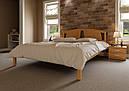Ліжко півтораспальне з натурального дерева в спальню, дитячу Британія (Вільха) ДОК, фото 5
