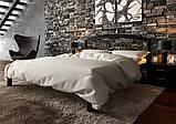 Ліжко півтораспальне з натурального дерева в спальню, дитячу Британія з ковкою (Вільха) ДОК , фото 2
