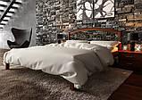 Ліжко півтораспальне з натурального дерева в спальню, дитячу Британія з ковкою (Вільха) ДОК , фото 4
