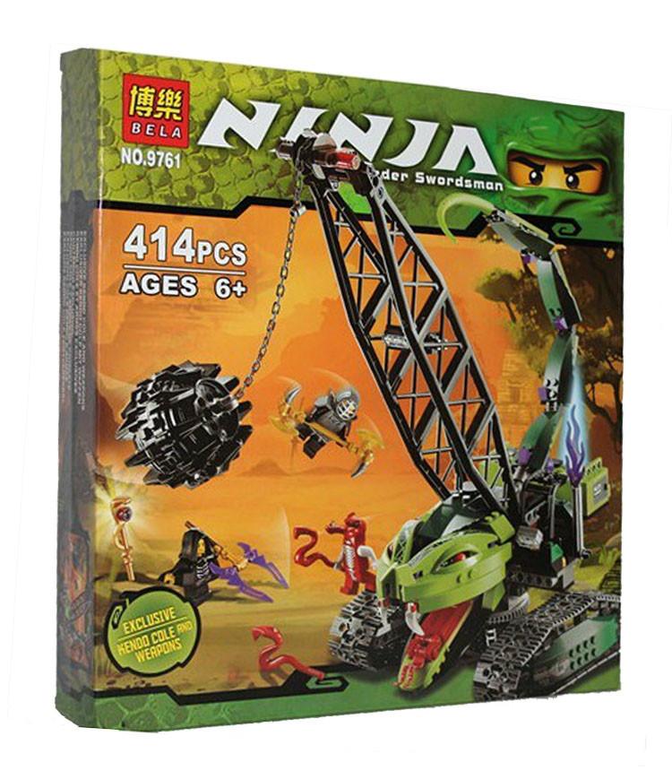 Конструктор BELA Ninja (аналог Lego Ninjago) 9761 (12шт) Ниндзя, в кор-ке,