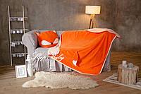 """Теплый плед с подушкой (для детей), комплект """"Лисенок"""". Размер L . Бесплатная доставка!"""