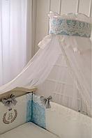 """Комплект в  стандартную детскую кроватку 120/60  """"DeLux"""" голубой"""