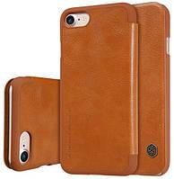 "Кожаный чехол-книжка Nillkin Qin Series для iPhone  7 / 8 (4.7"") brown"