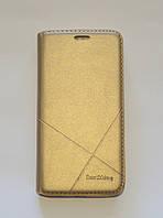 Чехол-книжка для смартфона Meizu M3 золотая, фото 1