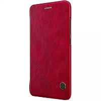 Кожаный чехол-книжка Nillkin Qin Series для Xiaomi  Mi 6 red