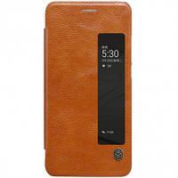 Кожаный чехол-книжка Nillkin Qin Series для Huawei  P10 Plus brown