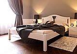 Ліжко півтораспальне з натурального дерева в спальню, дитячу (Вільха) 140х200 Італія ДОК, фото 2