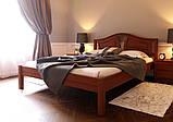 Ліжко півтораспальне з натурального дерева в спальню, дитячу (Вільха) 140х200 Італія ДОК, фото 3