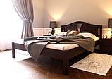 Ліжко півтораспальне з натурального дерева в спальню, дитячу (Вільха) 140х200 Італія ДОК, фото 4