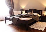 Ліжко півтораспальне з натурального дерева в спальню, дитячу (Вільха) 140х200 Італія ДОК, фото 5