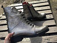 Ботинки №462-4 никель кожа (брук гвозди) + шипы , фото 1