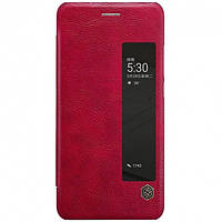 Кожаный чехол-книжка Nillkin Qin Series для Huawei  P10 red