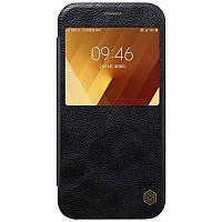Кожаный чехол-книжка Nillkin Qin Series для Samsung  A520 Galaxy A5 (2017) black