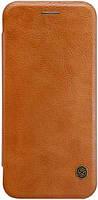 Кожаный чехол-книжка Nillkin Qin Series для Google  Pixel brown