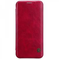 Кожаный чехол-книжка Nillkin Qin Series для Samsung  G950 Galaxy S8 red