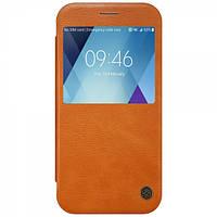 Кожаный чехол-книжка Nillkin Qin Series для Samsung  A520 Galaxy A5 (2017) brown