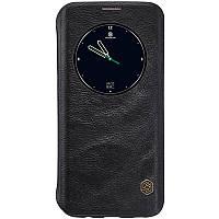 Кожаный чехол-книжка Nillkin Qin Series для Samsung  G935F Galaxy S7 Edge black