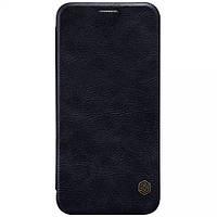 Кожаный чехол-книжка Nillkin Qin Series для Samsung  G925F Galaxy S6 Edge black