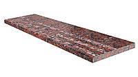 Ступени гранитные красные Капустинское 1000*400*30, фото 1