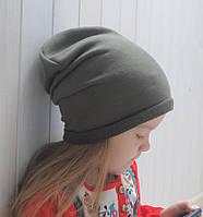 Детская шапка бини. Хаки. Размеры: 52-54, 54-56, 56-58 см