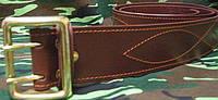 Ремни кожа офицерские пряжка латунь, штамповка