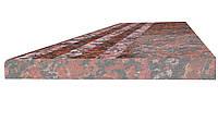 Ступени полированные с термо полосой 1300*300*30(Rosso Santiago)