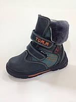 Кожаные ботинки на цигейке minimod.com.ua