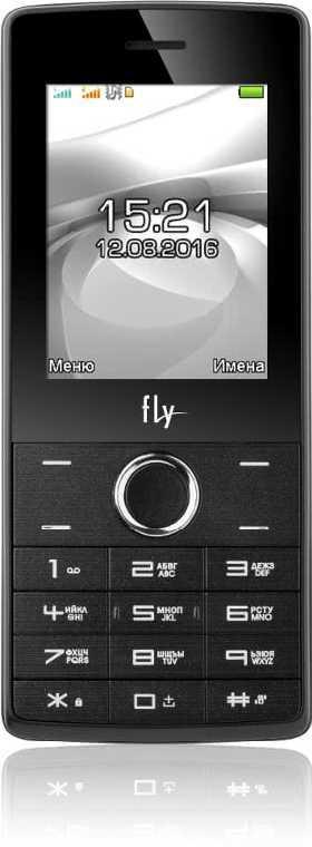 Кнопочный телефон с мощной батареей и функцией PowerBank на 2 сим карты Fly FF244 серый
