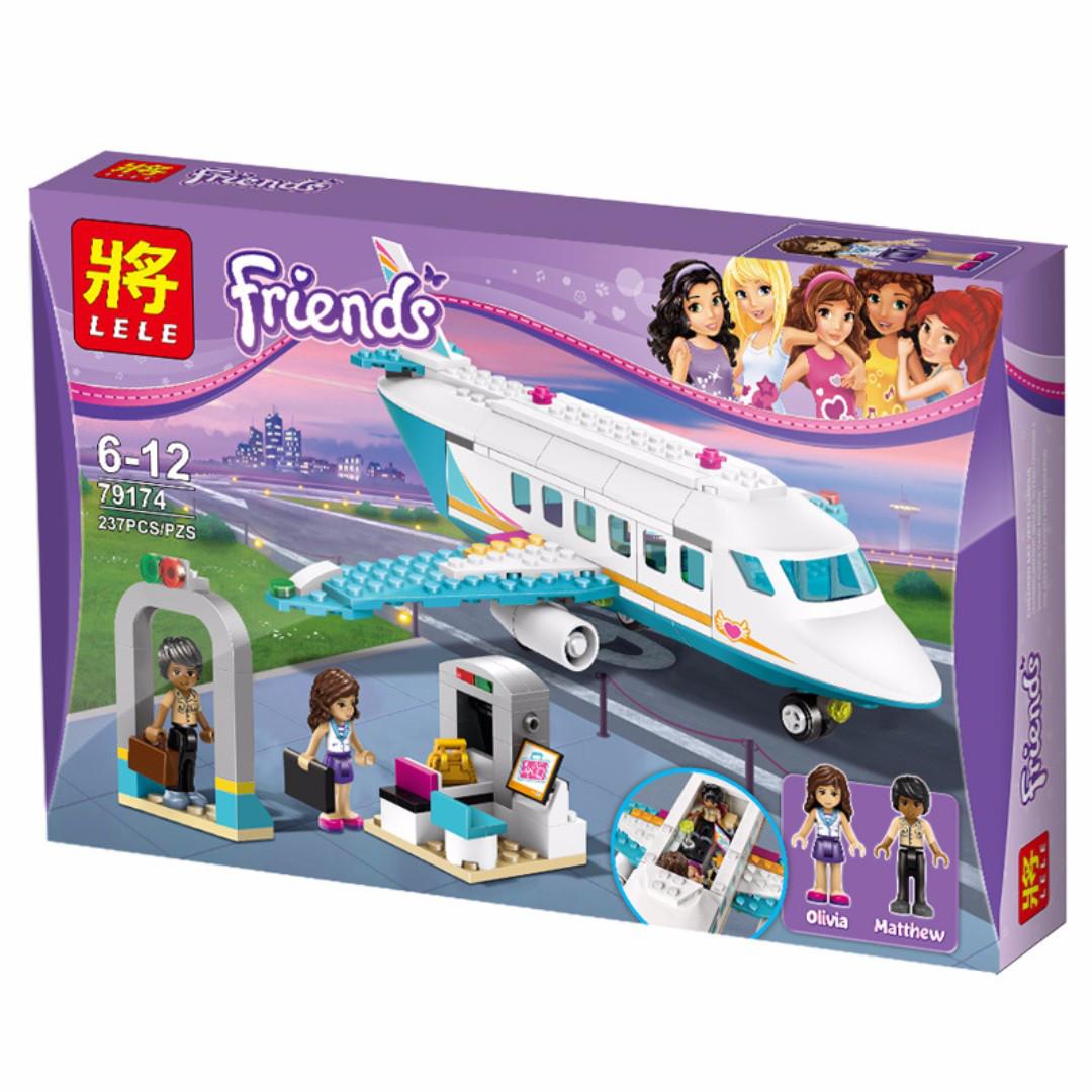 "Конструктор Lele 79175 Friends ""Аэропорт Хартлейк Сити"" (аналог Lego 41109) 701 дет"