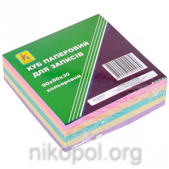 Бумага для заметок 300 листов, блок 90x90мм, цветная