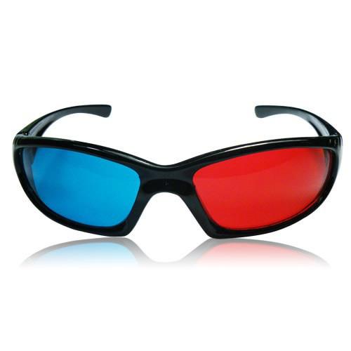 Анаглифные 3D стерео очки в пластиковой оправе