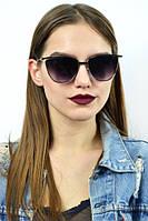 Cолнцезащитные женские очки с черной оправой графитовый , фото 1