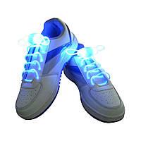 Светящиеся шнурки для обуви на батарейках (длина 80 см)