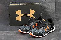 Мужские кроссовки Under Armour Черные с оранжевым