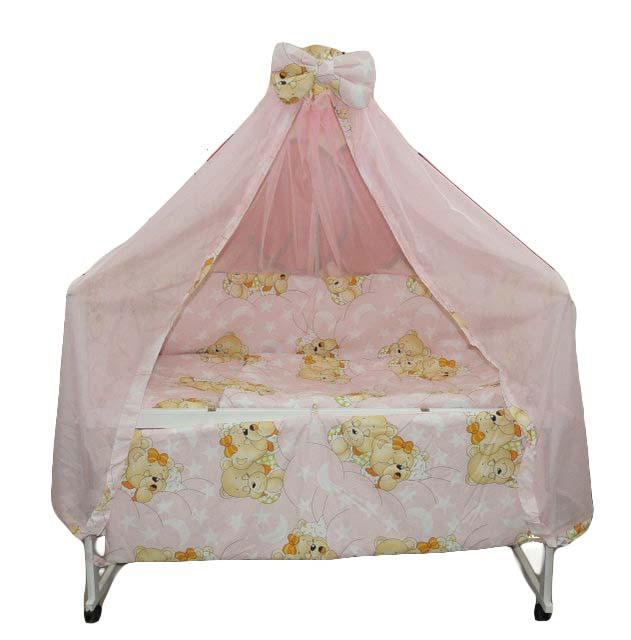 Набор постельного белья в кроватку с балдахином, Б-12