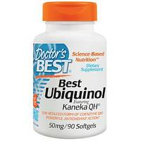 Doctor's Best, Кофермент Q восстановленный (убихинол) с добавлением Kaneka QH (Best Ubiquinol), 50 мг, 90 мягк