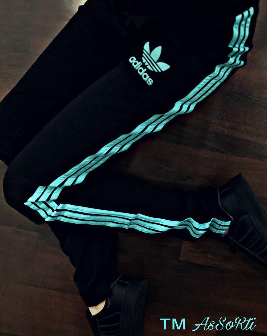 Спортивные штаны Adidas(коп) черные женские