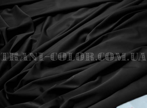 Микромасло трикотаж черный, фото 2