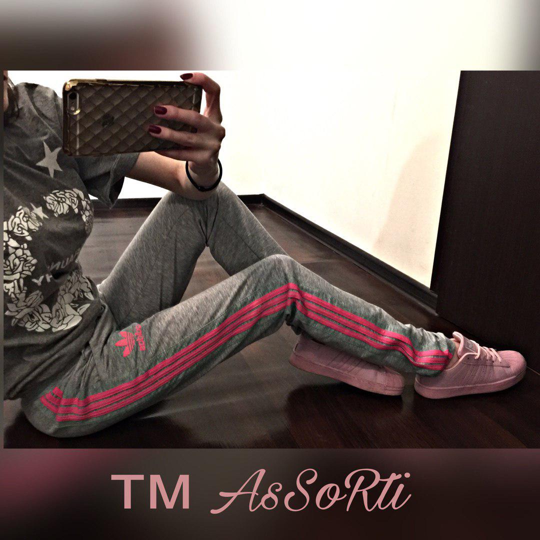 Спортивные штаны Adidas(коп) серые женские