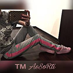 Спортивні штани Adidas (коп) сірі жіночі