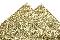 Картон с глиттером (блестками) Золотой 50x70 см, фото 1