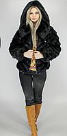 Шубка искусственная женская короткая с капюшоном М121 недорого