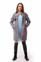 Подростковое стильное  пальто на девочку Chanel.