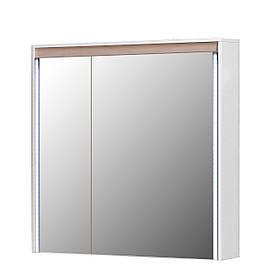 Зеркальный шкаф Мойдодыр Мадрид ЗШ-80 Береза