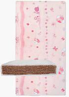 Матрас в кроватку кокосовая койра (4 слоя) Розовый