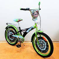 Велосипед TILLY Мотогонщик 20 дюймов T-220211 black + green