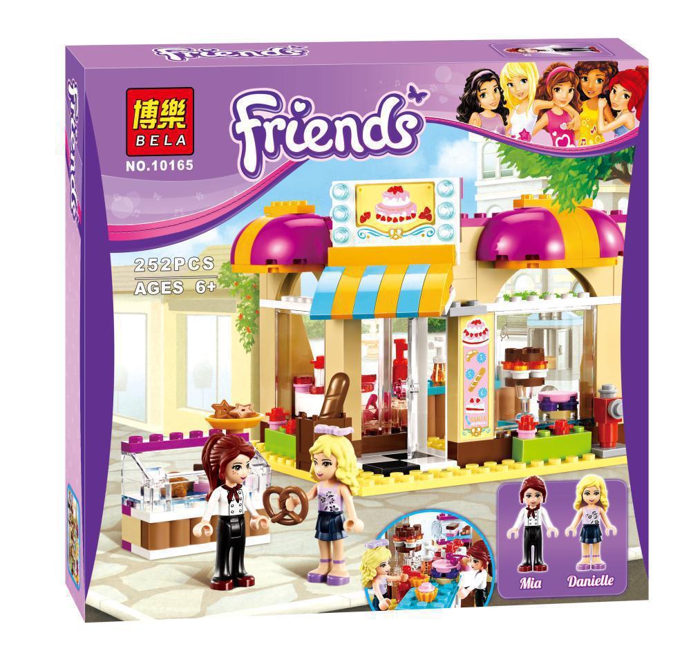 """Конструктор Friends Bela 10165 (аналог Lego 41006) """"Кондитерская"""" 252 дет"""