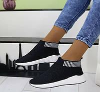 Кроссовки женские текстильные высокие, фото 1
